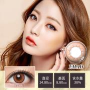迷卡韩流时尚系列年抛一片装EHAD-晶钻棕