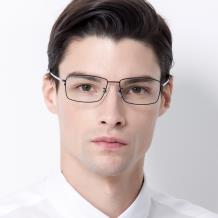 HAN COLLECTION純鈦光學眼鏡架-黑色(HN43011 C1)
