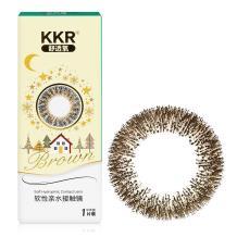 KKR舒透氧彩色隐形眼镜半年抛一片装极地星光-棕色