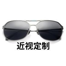 HAN纯钛光学眼镜架-枪色近视框(JK5851-C3)