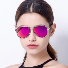 HAN COLLECTION金属防UV太阳眼镜-银框玫红片(HN52014M C2)