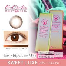 Ever Color 1 day MOIST LABEL彩色隐形眼镜日抛型10片装-Sweet Luxe