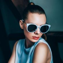 HAN SUNGLASSES防UV太阳眼镜HN55065M C3/M 蓝框水银片