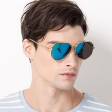 HAN COLLECTION金属防UV太阳眼镜-金框蓝色片(HN52014M C3)