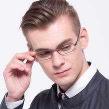 HAN纯钛时尚光学眼镜架-枪色(HN49375-C02)