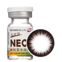 NEO蒽伊傲Ⅱ代年抛彩色隐形眼镜1片装-N939黑色