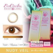 Ever Color 1 day MOIST LABEL彩色隐形眼镜日抛型10片装-Nudy Veil