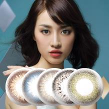 日本Femii 妃蜜莉彩色月抛隐形眼镜6片装-傲娇褐绿