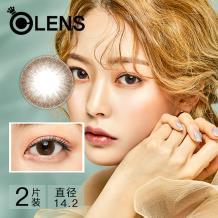 OLENS Falling 暧恋系列彩色隐形眼镜月抛2片装-浓情巧克力色