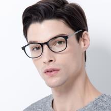 HAN COLLECTION 钛塑光学眼镜架-韵黑(HN45002M C1)