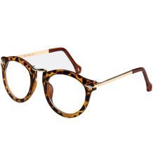 HAN时尚潮款防辐射蓝光眼镜架-豹纹色(HD2624-C4)