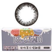 伊厶康冰淇淋单色系列彩色半年抛隐形眼镜一片装(黑)灰色