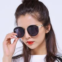 HAN时尚防紫外线太阳镜HD59301-S01 黑框黑灰片
