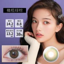 日本BeeHeartB蜜心妍美瞳日抛隐形眼镜10片装-橄榄绿棕