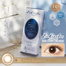 Ever Color 1day Natural Mosit Label UV保湿彩色隐形亚博竞猜日抛型20片装-Sheer Lueur