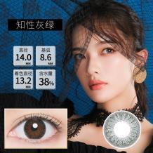 日本BeeHeartB蜜心妍美瞳日抛隐形眼镜10片装-知性灰绿