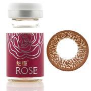 魅瞳玫瑰系列彩色隐形眼镜-巧克力色