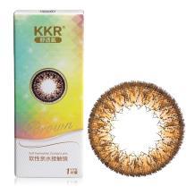 KKR 舒透氧彩色隐形眼镜半年抛1片装-炫氧美目(棕色)