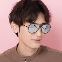 HAN COLLECTION金属防UV太阳眼镜-黑框银色片(HN52014M C4)