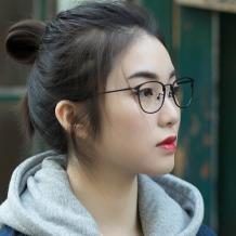HAN金属光学眼镜架-哑黑小码(HD3312-F01)小脸适用