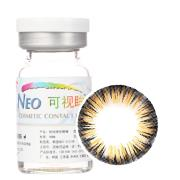 NEO可视眸巨目彩色隐形眼镜年抛一片装NB114 丝光棕