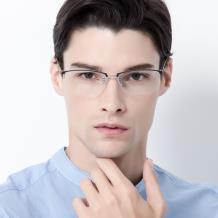 HAN COLLECTION纯钛光学眼镜架-哑银(HN42066L C2)