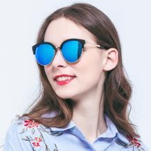 HAN SUNGLASSES PC偏光太阳眼镜-黑框蓝色片(HN55058 C1/M)
