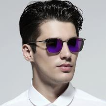HAN RAZR-X9 不锈钢防UV太阳眼镜-银框紫色片(HN52010M C2)