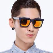 HAN时尚偏光太阳镜HD59306-S13 蓝框橘色片