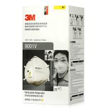 3M 9001V自吸过滤式防颗粒物呼吸器25只每盒