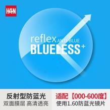 HAN ANTI-BLUE1.60智能反射型防蓝光非球面树脂镜片(1.598)