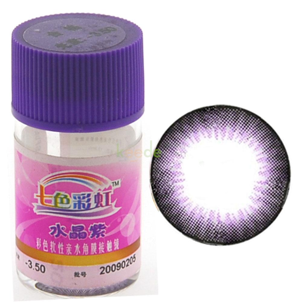自然美七色彩虹水晶紫彩色隐形眼镜