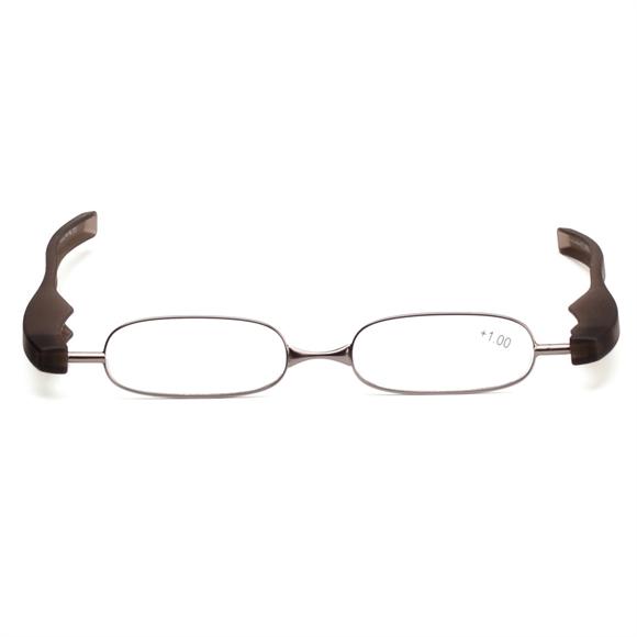 360度旋转折叠老花眼镜黑色