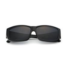 HAN时尚偏光太阳镜近视框架套镜HD5901-S01-黑框黑灰片(宽边宽腿可防飞沫)