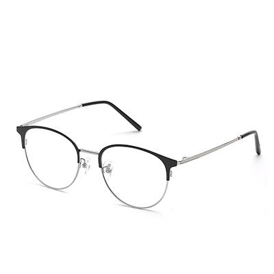 HAN TITANIUM纯钛眼镜HN42094L+1.56防蓝光镜片
